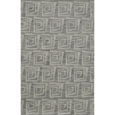 Zara Hand-Woven�Gray Area Rug Rug Size: Rectangle 5 x 76