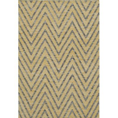 Zara Hand-Woven�Yellow Area Rug Rug Size: Rectangle 5 x 76