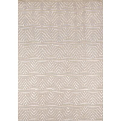 Zelda Hand-Woven Sand Area Rug Rug Size: Rectangle 3'6