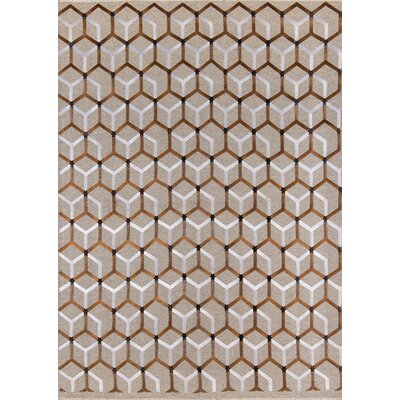 Zelda Hand-Woven Copper/Natural Area Rug Rug Size: 36 x 56