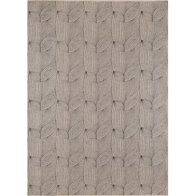Zelda Hand-Woven Gray Area Rug Rug Size: Rectangle 36 x 56