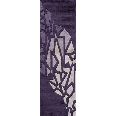 Rita Hand-Tufted Purple Area Rug Rug Size: Runner 26 x 12