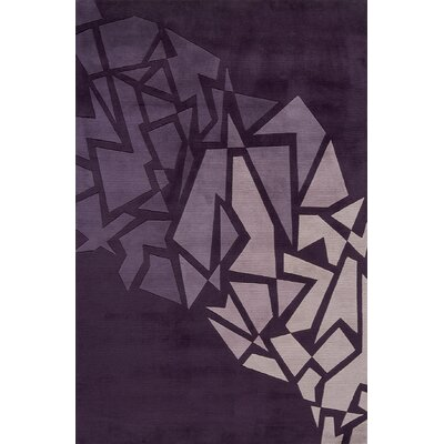 Rita Hand-Tufted Purple Area Rug Rug Size: 96 x 136