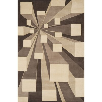 Rita Hand-Tufted Beige/Brown Area Rug Rug Size: 36 x 56