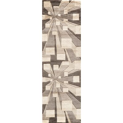 Rita Hand-Tufted Beige/Brown Area Rug Rug Size: Runner 26 x 12