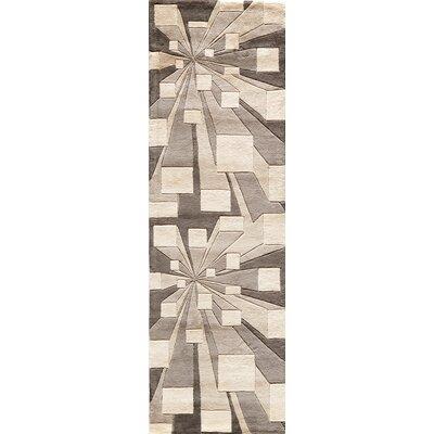 Rita Hand-Tufted Beige/Brown Area Rug Rug Size: Runner 26 x 8