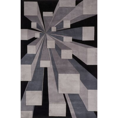 Rita Hand-Tufted Gotham Area Rug Rug Size: Rectangle 96 x 136