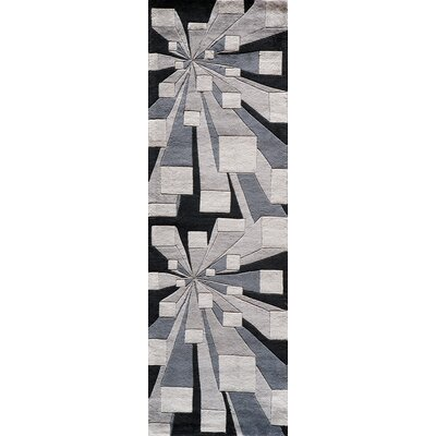 Rita Hand-Tufted Gotham Area Rug Rug Size: Runner 2'6