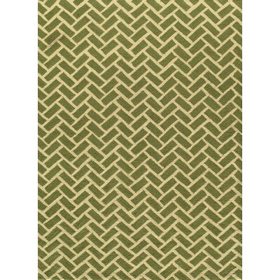 Trent Hand-Hooked Green Area Rug Rug Size: Rectangle 76 x 96