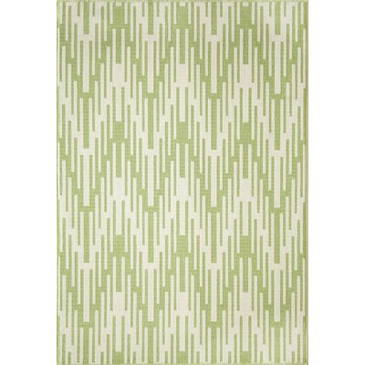 Wexler Hand-Woven Green Indoor/Outdoor Area Rug Rug Size: Rectangle 23 x 46