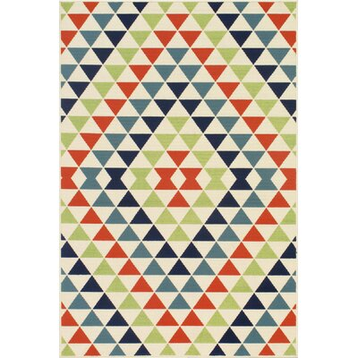 Wexler Hand-Woven Blue/Green/Red Indoor/Outdoor Area Rug Rug Size: 5'3