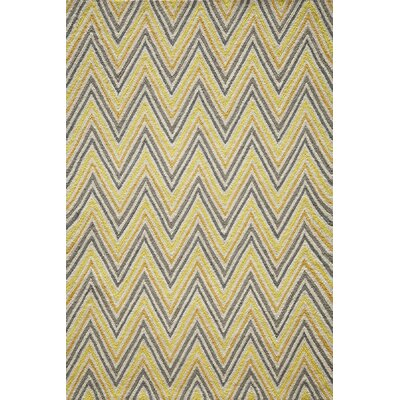 Trent Hand-Hooked Gold Area Rug Rug Size: Rectangle 76 x 96