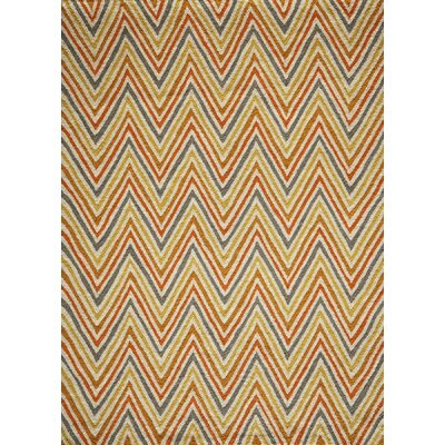 Trent Hand-Hooked Orange Area Rug Rug Size: Rectangle 76 x 96
