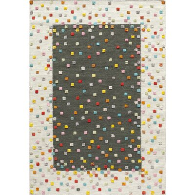 Chesterfield Hand-Woven Charcoal Area Rug Rug Size: 36 x 56