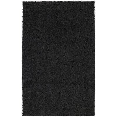 Keeton Bolster Shag Black Tufted Area Rug