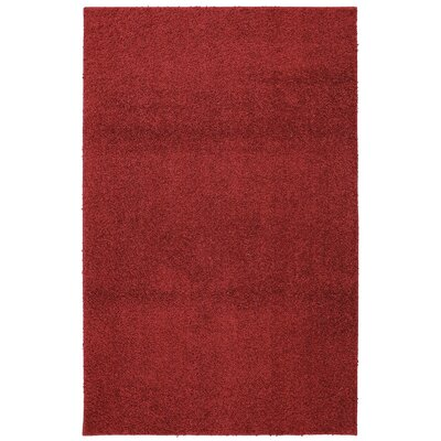 Keeton Bolster Shag Crimson Area Rug Rug Size: Rectangle 8 x 10