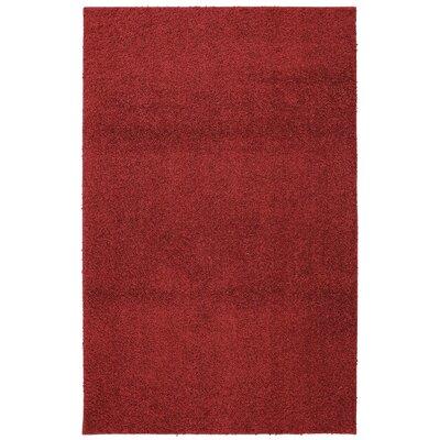 Keeton Bolster Shag Crimson Tufted Area Rug