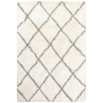 Sayer Ivory/Gray Area Rug Size: 5'3