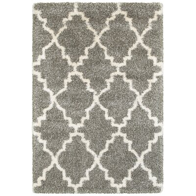 Sayer Gray/Ivory Area Rug Size: 53 x 76