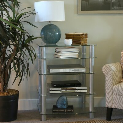 Batista Multi-Level Component Stand with Shelves Finish: Silver