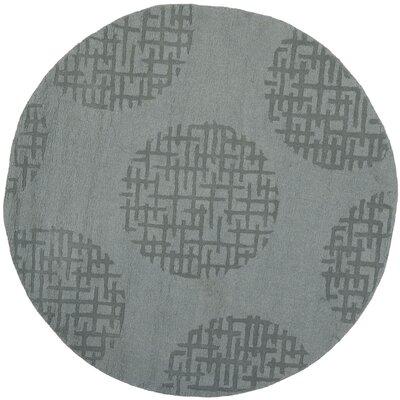 Scanlan Modern Grey Area Rug Rug Size: Round 5