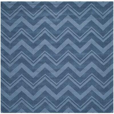 Scanlan Blue Area Rug Rug Size: Square 6