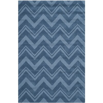 Scanlan Blue Area Rug Rug Size: Rectangle 4 x 6
