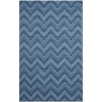 Scanlan Blue Area Rug Rug Size: Rectangle 5 x 8