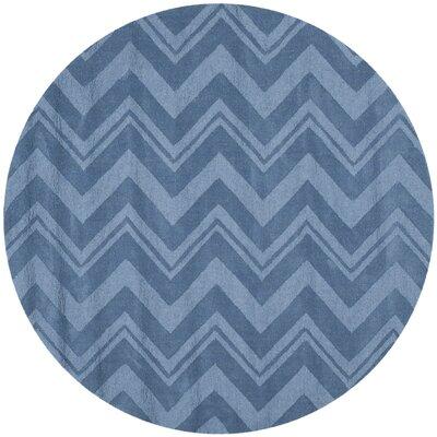 Scanlan Blue Area Rug Rug Size: Round 5