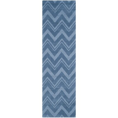 Scanlan Blue Area Rug Rug Size: Runner 23 x 8