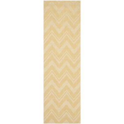 Scanlan Gold Area Rug Rug Size: Runner 23 x 8
