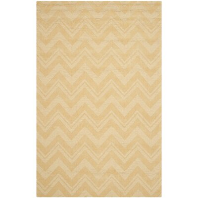 Scanlan Gold Area Rug Rug Size: 5 x 8