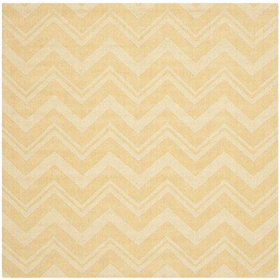 Scanlan Gold Area Rug Rug Size: Square 6
