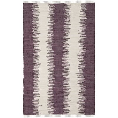 Lotie Hand-Woven Purple Area Rug Rug Size: Rectangle 26 x 4