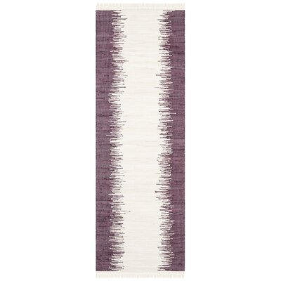 Severn Purple Abstract Area Rug Rug Size: Runner 23 x 7