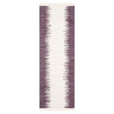 Severn Purple Abstract Area Rug Rug Size: Runner 23 x 9