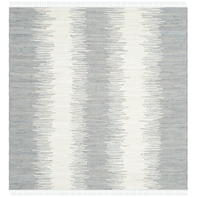 Lotie Grey Abstract Area Rug Rug Size: Square 6