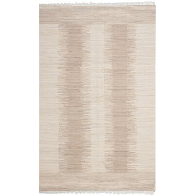 Lotie Hand-Woven Beige Area Rug Rug Size: Rectangle 8 x 10