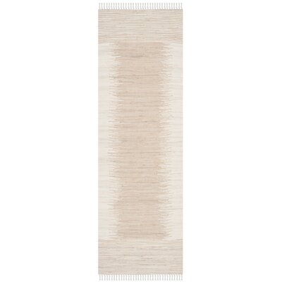 Severn Beige Abstract Area Rug Rug Size: Runner 23 x 7