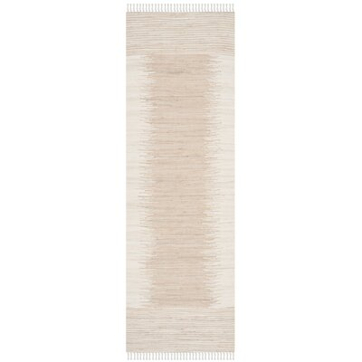 Severn Beige Abstract Area Rug Rug Size: Runner 26 x 6