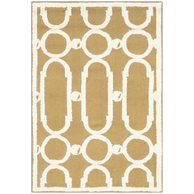 Sheeran Olive/White Geometric Area Rug Rug Size: Rectangle 2 x 3
