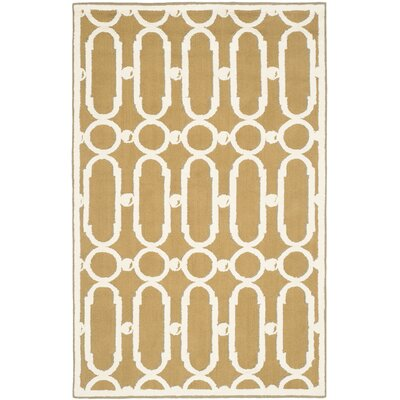 Sheeran Olive/White Geometric Area Rug Rug Size: Rectangle 39 x 59