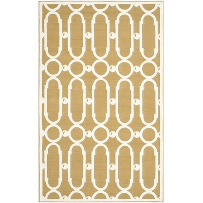 Sheeran Olive/White Geometric Area Rug Rug Size: Rectangle 56 x 86