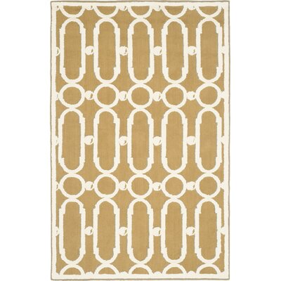 Sheeran Olive/White Geometric Area Rug Rug Size: Rectangle 79 x 99
