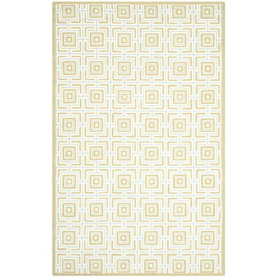 Sheeran Olive/Light Blue Area Rug Rug Size: 56 x 86