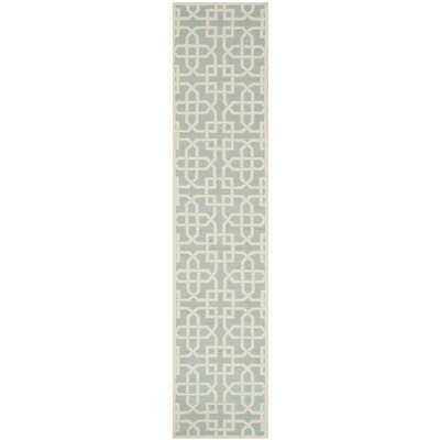 Sheeran Light Blue/White Area Rug Rug Size: Runner 23 x 10