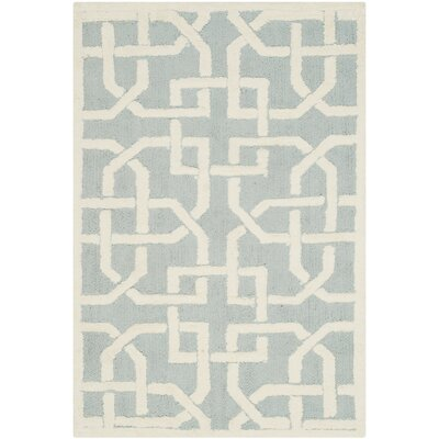 Sheeran Light Blue/White Area Rug Rug Size: Rectangle 2 x 3