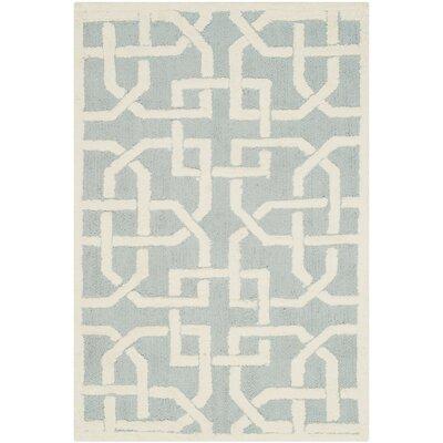 Sheeran Light Blue/White Area Rug Rug Size: 39 x 59