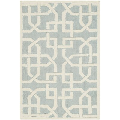 Sheeran Light Blue/White Area Rug Rug Size: 56 x 86