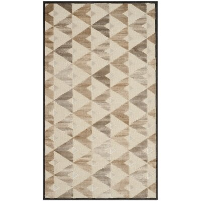 Scharff Soft Anthracite / Cream Geometric Area Rug Rug Size: Rectangle 33 x 57